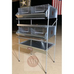 Quail Cage Double Rack PVC COATED floor (4 Sections)