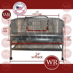 QUAIL CAGE FOR LAYING & BREEDING PVC COATED FLOOR