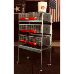 Quail Cage  3 Tier Breeding  (9 Sections) PVC floor